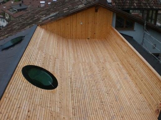 Carpenteria - Referenze | Tetto con terrazza per Sanin, Magré (BZ)